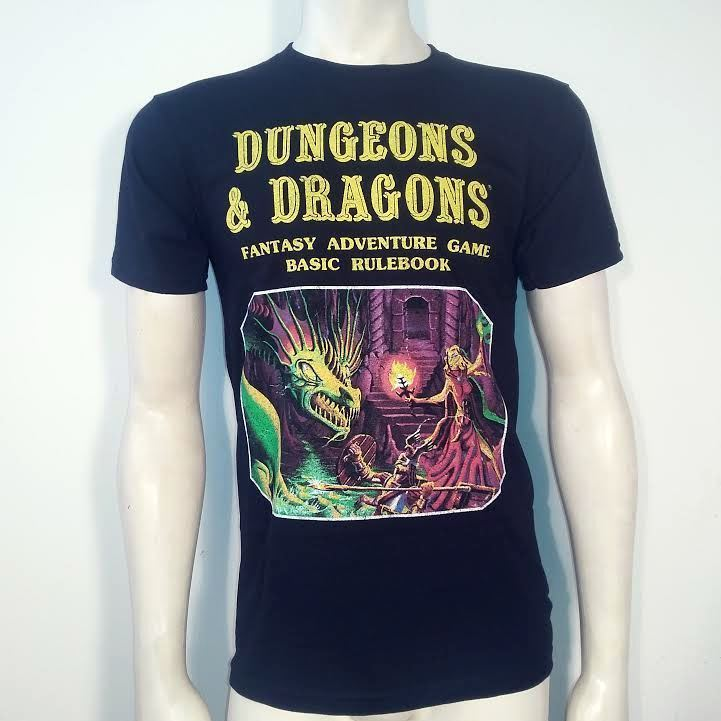 Dungeons & Dragons Basic Rulebook Fantasy Magic Board D&D Game Shirt DJ111A31 for sale  USA