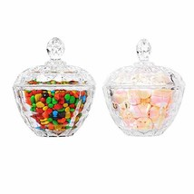 ComSaf Glass Candy Dish with Lid Decorative Candy Bowl, Crystal Covered ... - $20.12