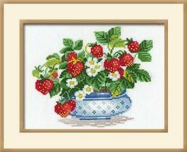 Cross Stitch Kit Riolis Basket of Strawberries - $23.00