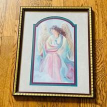 Bettie Herbert Felder Framed Angel Picture Thru God Grace signed Art 16X13 HOMCO - $49.45