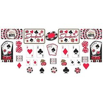Assorted Casino Cutout Party Decorations (30 Ct) - FREE Shipping! - £8.60 GBP