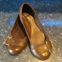 Tory Burch Brown Leather NOEL Ballet Flat, S/N 48138689, Size 9.5m-EXCELLENT - $79.00