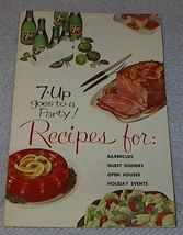Vintage 7UP Goes to a Party Recipe Cookbook 1961 image 1