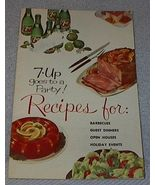 Vintage 7UP Goes to a Party Recipe Cookbook 1961 - $5.00