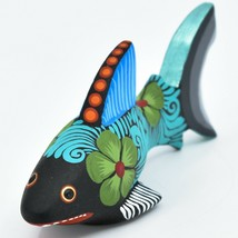 Handmade Alebrijes Oaxacan Copal Wood Carving Painted Folk Art Shark Figurine image 2