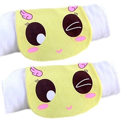 2 Lovely Shy Girl Baby Cotton Gauze Towel Wipe Sweat Absorbent Cloth Mat Towels