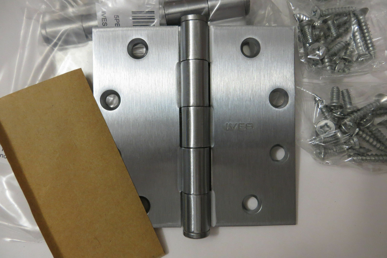 "2X Deltana SS44U32D 4/"" x 4/"" Stainless Steel Square Corner Plain Bearing Mortise"