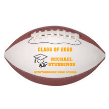 Personalized Custom Class of 2020 Graduation Mini Football Gift Orange Text - $34.95