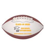 Personalized Custom Class of 2020 Graduation Mini Football Gift Orange Text - $34.95