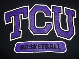 Black TCU Horned Frogs Basketball  NCAA  2XL Tshirt  Very Good Condition - $17.57