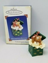 Hallmark Keepsake MISCHIEVOUS KITTENS Gift Box Cat 7th 2005 Christmas Or... - $8.99