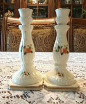 Mikasa Bone China Coronation Floral Candlestick Candle Holders Set - $32.00