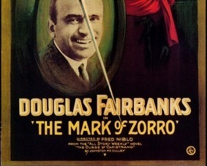 THE MARK OF ZORRO, 1920,  SILENT MOVIE VERSION