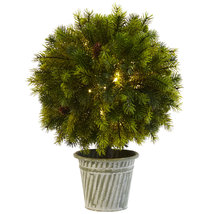 "18"" Pine Ball in Iron Top, Nearly Natural - €65,64 EUR"