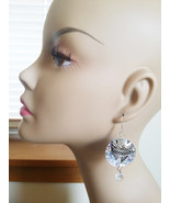 silver arrow head circle sequin dangle bead dro... - $4.99