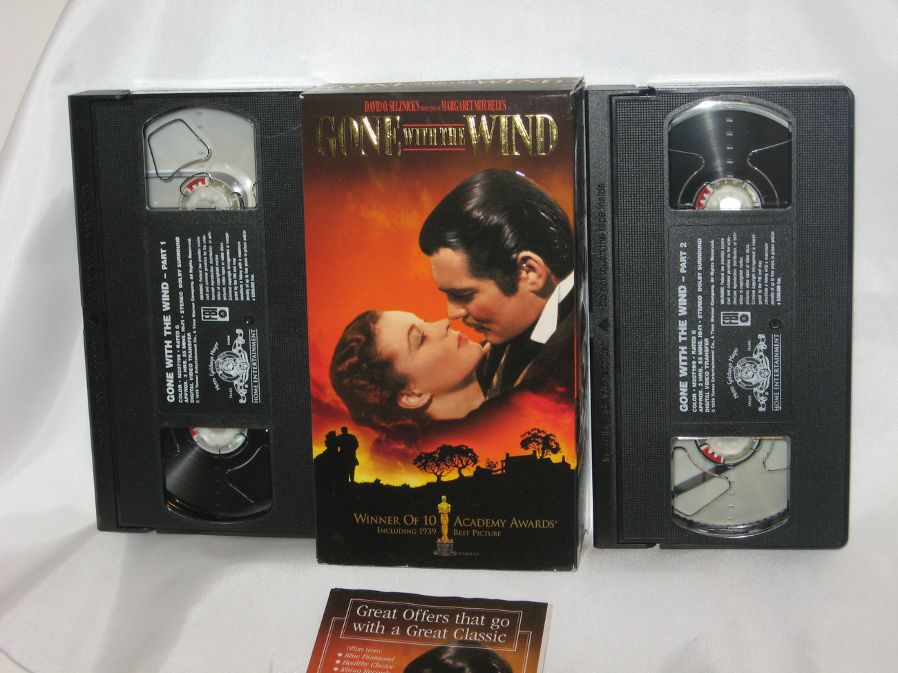 Primary image for GONE WITH THE WIND - 2 TAPE VHS SET - CLARK GABLE-VIVIEN LEIGH