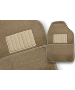 Floormats Vehicle Car UNIVERSAL STYLED 4 pc rear front NEW Dark Tan Floo... - $29.97
