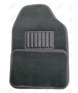 Floormats Vehicle Car UNIVERSAL STYLED 4 pc rear front Dark Gray NEW  Fl... - $29.97