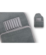 Floormats Vehicle Car UNIVERSAL STYLED 4 pc rear front NEW light grey Fl... - $29.97