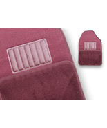 Floormats Vehicle Car UNIVERSAL STYLED 4 pc rear front NEW Burgundy Floo... - $29.97