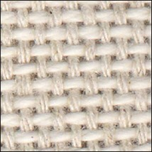 Naural18ct Anne Cloth Cotton Afghan 45x57 100% cotton Zweigart  - $56.70