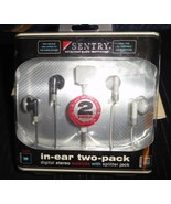 Sentry Advanced Audio Technology-In Ear Two Pack Digital Stereo Earbuds-NIB - $6.50