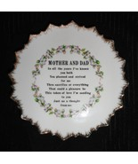 Mother and Dad Decorative Plate - $5.00