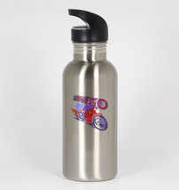 Let's Go Retro #358 - Funny 20oz Silver Water Bottle New Ride Motorcycle - $397,90 MXN
