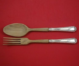 "Louis XIV by Towle Sterling Silver Salad Serving Set 2pc with Wood 10 1/2"" - $109.00"