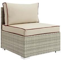 Repose Outdoor Patio Armless Chair Light Gray Beige EEI-2958-LGR-BEI - $235.25
