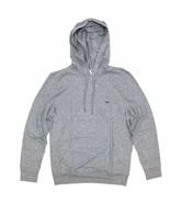 Lacoste Men's Hooded T-Shirt Heather Gray Long Sleeve Lightweight Hoodie - $54.99