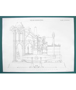 STEAM ENGINE Design Marine 65 HP 4ft Stroke - c. 1840 Fine Quality Print - $13.77