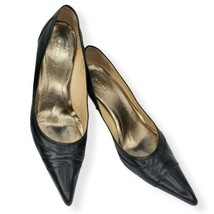 Coach Black Leather Pointed-Toe Pump 9B - $67.32