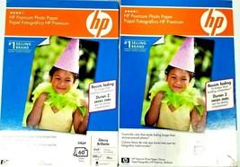 "HP Premium  4 X 6"" Glossy Inkjet Photo Paper 10 mil, 120 sheets - $13.86"