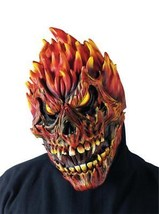 Fire Skull Mask Zombie Adult Fearsome Faces Gory Creepy Scary Halloween FW93218S - $39.99