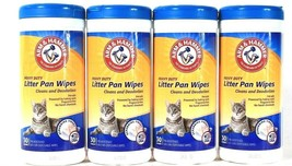 4 Count Arm & Hammer Heavy Duty Litter Pan 30 Count Scrubbing Fibers Tow... - $19.99