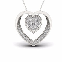 IGI Certified S925 Sterling Silver 0.22ct TDW Diamond Heart Necklace - $189.99