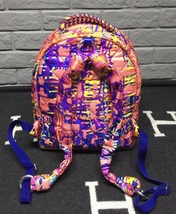 BRAND NEW AUTH CHANEL RUNWAY PAINT SPLATTER PINK MULTICOLOR QUILTED BACKPACK  image 2
