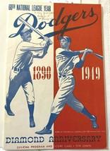 1949 Jun 3 Brooklyn Dodgers Official Program Score Card w/St. Louis - $64.35