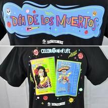 CA Lottery Scratchers Dia De Los Muertos L T-Shirt Large Slim Mens Day o... - $22.88