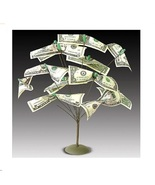 Metal Cash Tree Gift Card Holder Party Conversation Piece Table Centerpi... - $8.98