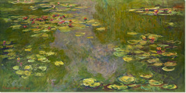 Stretched Canvas - Water Lilies Painting Claude Monet Reproduction - $100.99+