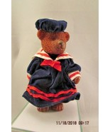 Russ Teddy Town Bear Resin Jointed Girls Sailor Outfit - $9.49