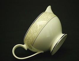 Bavarian Platinum by Mikasa Milk Creamer 7 oz. White Flower Designs w Tan Rim - $12.86