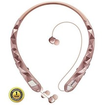 Bluetooth Headphones Sports Sweatproof Wireless Headphones Neckband Rose... - $71.05