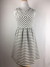 Anthropologie Maeve Women's Black & White Diamond Fitted Sleeveless Dress Size 0 - $18.80