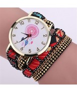Dream Catcher Leather Wrap Watch Bracelet - $20.00