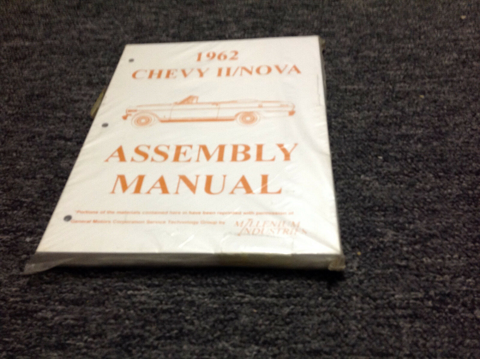 1962 Chevrolet Chevy II NOVA Assembly Manual Book