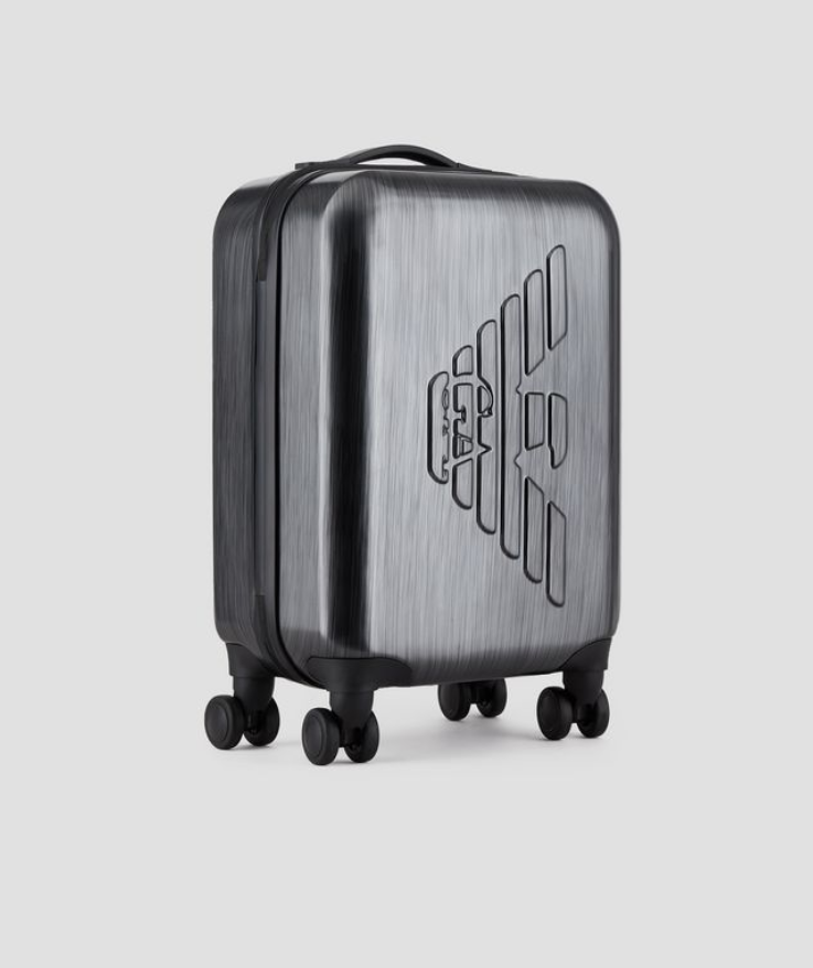 EMPORIO ARMANI Suitcase ABS Embossed Logo Free Shipping