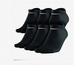 Nike Socks Men's Black No Show Cushioned Performance Size 8-12 New 6 Pairs - $14.55